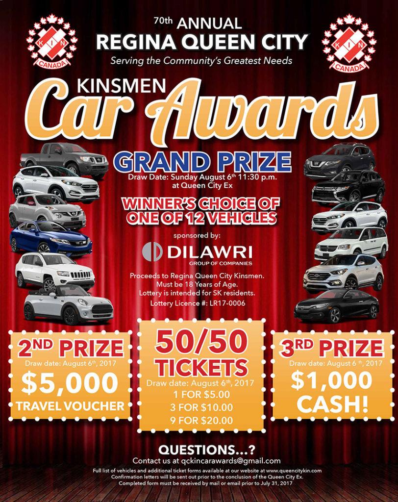 Kinsmen Car Awards Poster 2017-2
